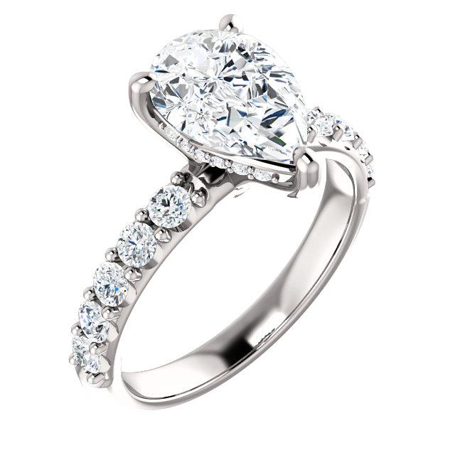 Pear Claw Set Style Engagement Ring - I Heart Moissanites