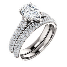 Pear Pave Style Engagement Ring