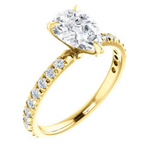 Pear Claw Set Style Engagement Ring