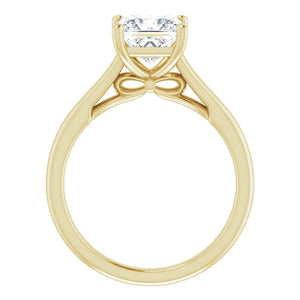 Four Claw Princess Solitaire Engagement Ring