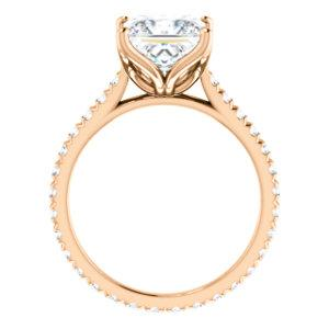 Princess Claw Set Eternity Style Engagement Ring