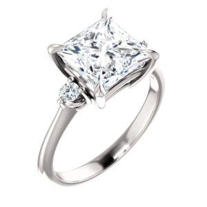 Princess Accent Engagement Ring