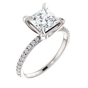 Princess Claw Set Style Engagement Ring