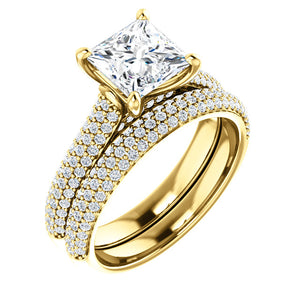 Princess Pave Style Engagement Ring