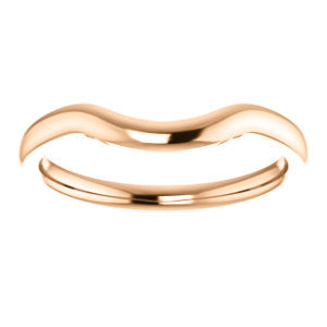 Curved Plain Wedding Band