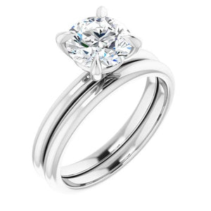 Round Brilliant Thin Band Solitaire Engagement Ring