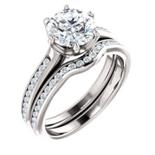 Round Brilliant Channel Set Style Engagement Ring