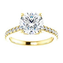 Round Brilliant Claw Set Eternity Style Engagement Ring
