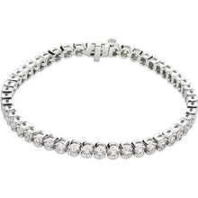 3.00ct Bezel Set Tennis Bracelet