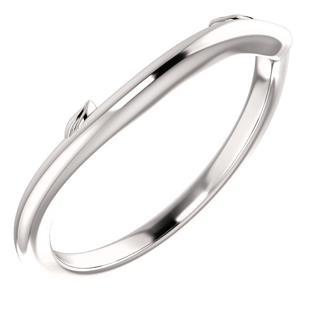 Leaf Design Plain Wedding Band
