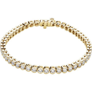 6.00ct Bezel Set Tennis Bracelet