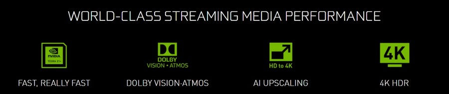 NVIDIA SHIELD Android TV 4K HDR Streaming Media Player; High Performance, Dolby Vision, Google Assistant Built-In, Works with Alexa-feature
