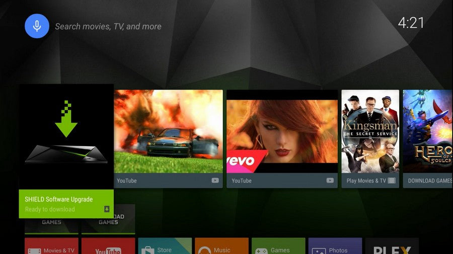 nvidia shield tv box pro quick start guide set up guideline -first Row