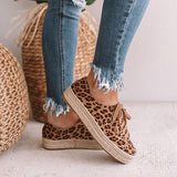 Charmystery Leopard Espadrille Sneakers (Ship in 24 Hours)