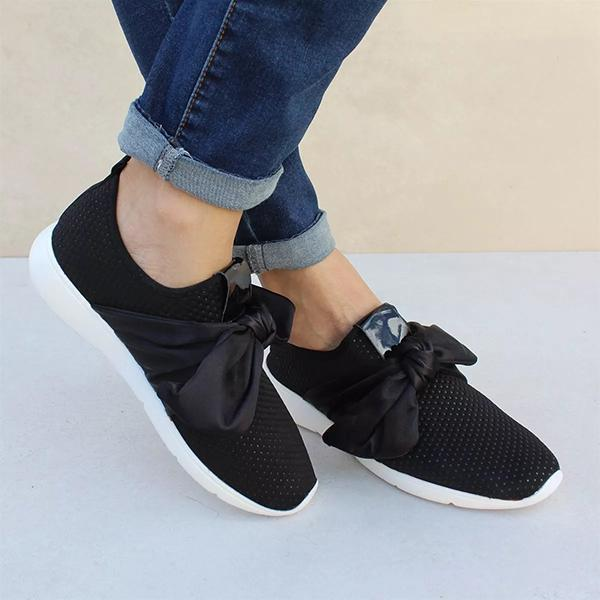 Charmystery Casual Comfy Bow Sneakers