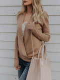 Charmystery Slim Deep V Neck Solid Color Sexy Sweater