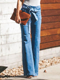 Charmystery High-waist Wide-leg Flared Jeans