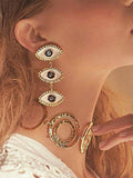 Charmystery New Exaggerated Devil's Eye Earrings