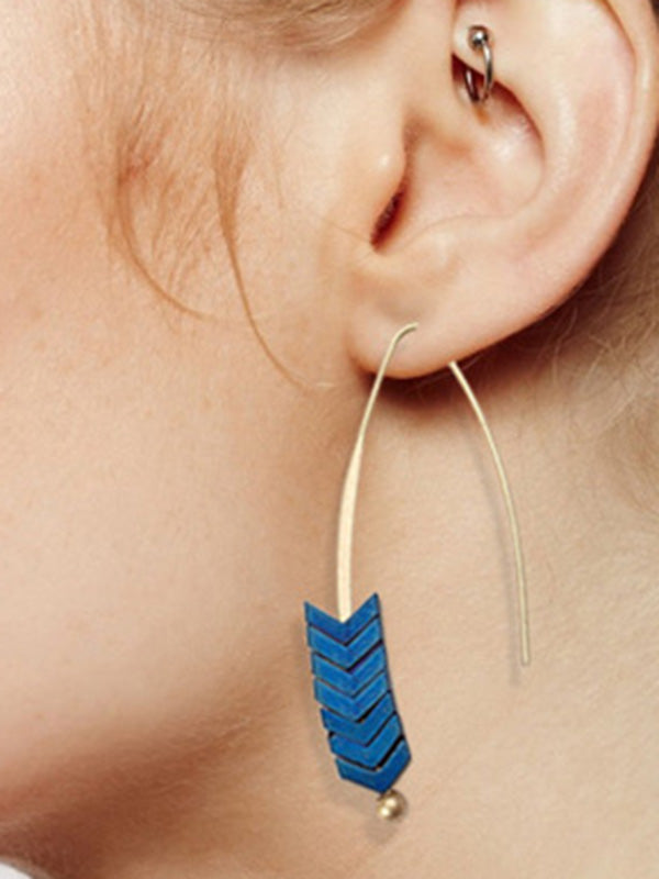 Charmystery Arrow Ore Piece Retro Explosion Earrings