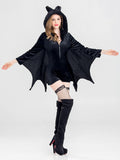 Charmystery Halloween Cosplay Black Bat Vampire Women's Uniform