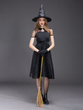 Charmystery New Black Temperament Witch Night Ghost Dress