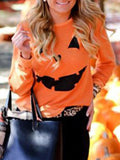 Charmystery Halloween Party Pumpkin Sweater