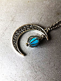 Charmystery Hollow Moon Love Bird Cage Luminous Bead Necklace