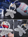 Charmystery Retro Hip Hop Wind Opener Necklace