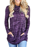 Charmystery Casual Drawstring Pocket Pullover
