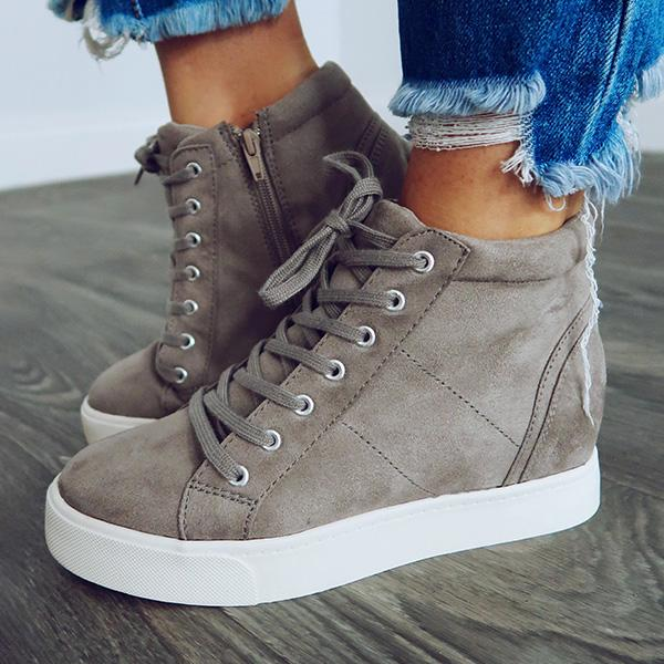 Charmystery Women Grey Warm Sneakers