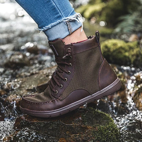 Charmystery Fashion Lace Up Casual Boots