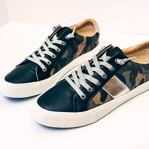 Charmystery Summit Faux Leather Camo Sneakers