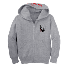 Load image into Gallery viewer, Youth KW Logo Hoodie - Grey