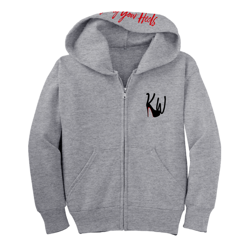 Youth KW Logo Hoodie - Grey