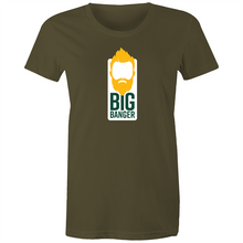Load image into Gallery viewer, Big Banger Suns Women's Tee (Green and Gold)