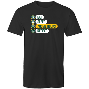 Eat and Sleep Aussie Hoops Mens T-Shirt
