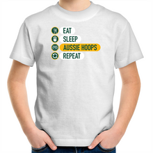 Load image into Gallery viewer, Eat and Sleep Aussie Hoops Kids T-Shirt