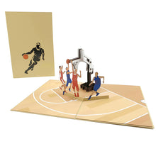 Load image into Gallery viewer, Australian basketball 3D pop up card