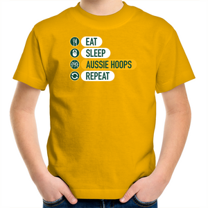 Eat and Sleep Aussie Hoops Kids T-Shirt
