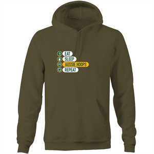 Eat and Sleep Aussie Hoops Pocket Hoodie