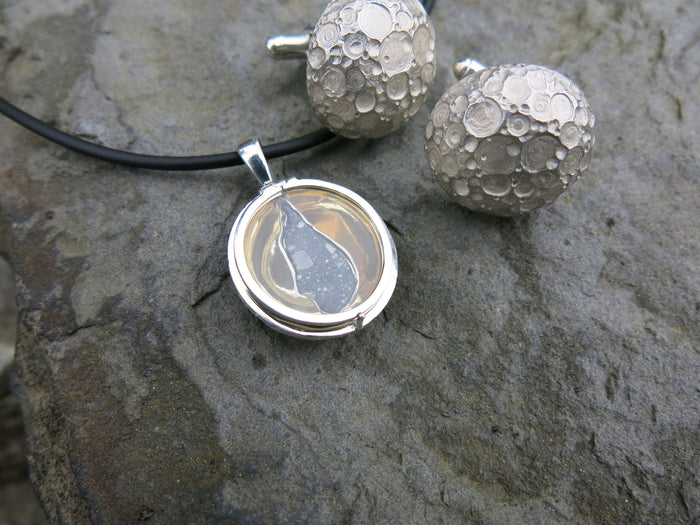 sarah's moon locket and lunar cufflinks