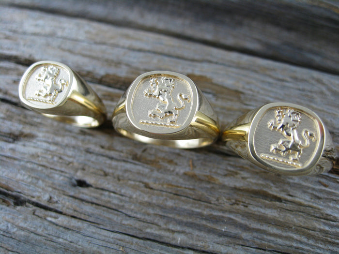 lion signet rings