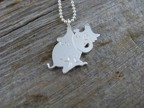 cute custom 'Horton hears a Who' necklace in sterling silver as a special present for a lovely elementary school teacher.