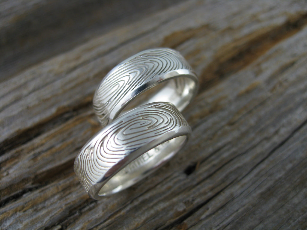 russell and daniel fingerprint wedding bands