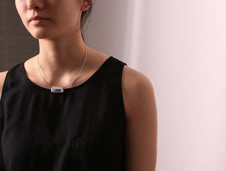 tear drop level necklace