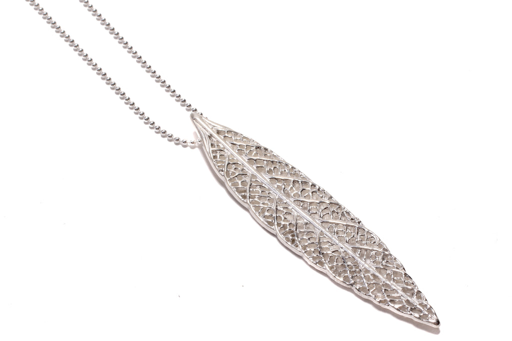 lace leaf necklace