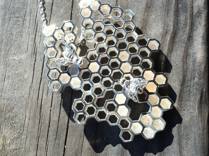 custom honeycomb necklace