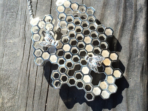 custom honeycomb necklace: sterling silver custom honeycomb necklace - a real signature piece