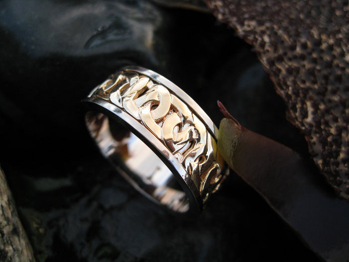 shaun custom spinning wedding ring