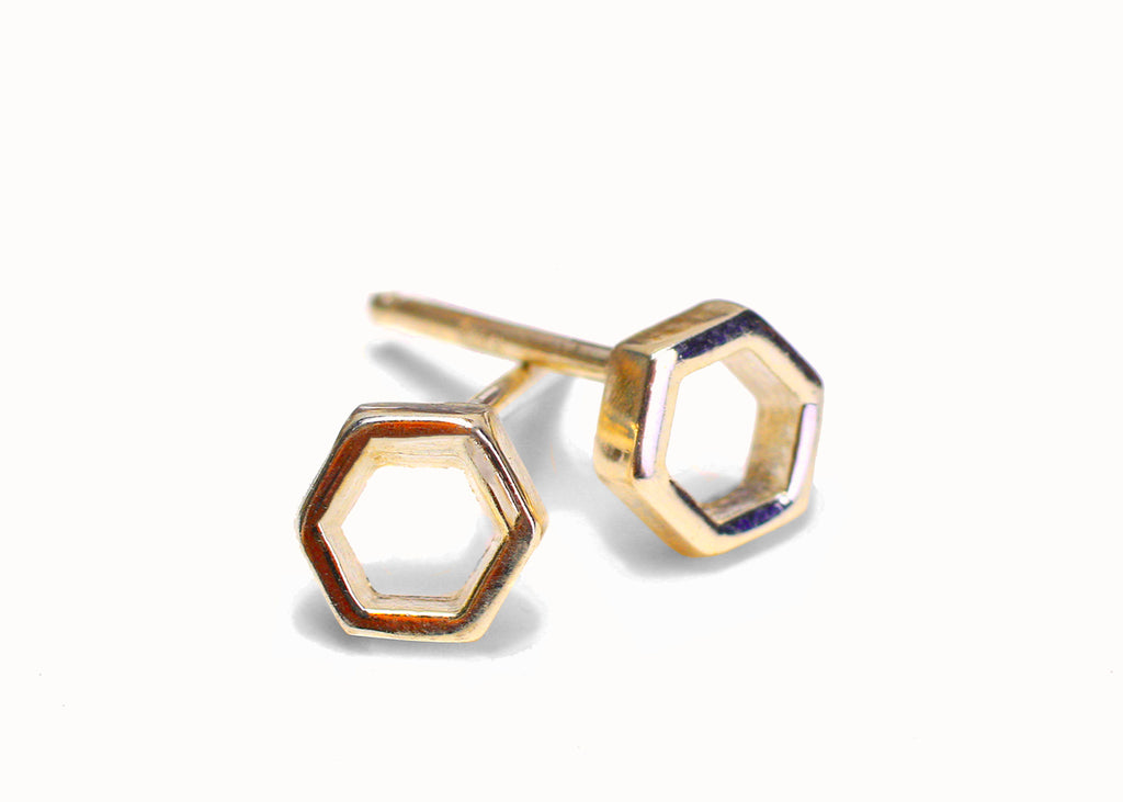Single Honeycomb Earrings